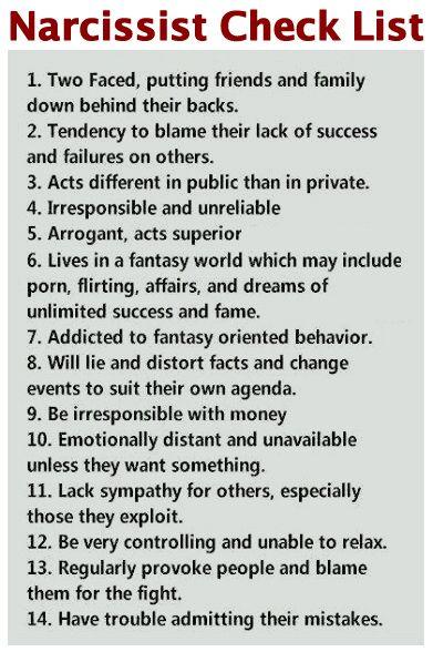 2eb7e49afaa797c8e63ded88f2955c7a--narcissist-checklist-divorce-checklist